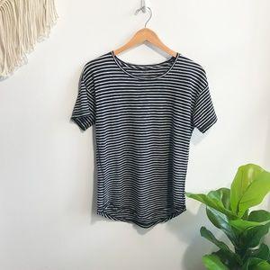 Madewell Striped Short Sleeve Top Black & White M